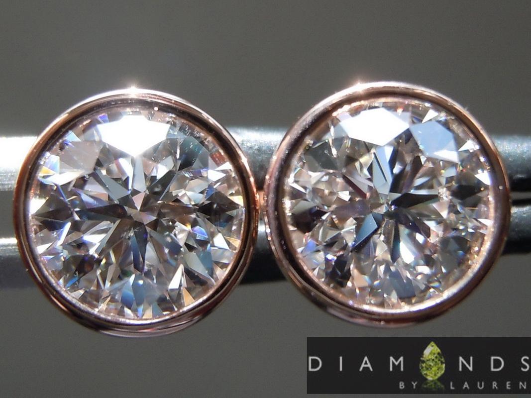 colorless lab diamond earrings