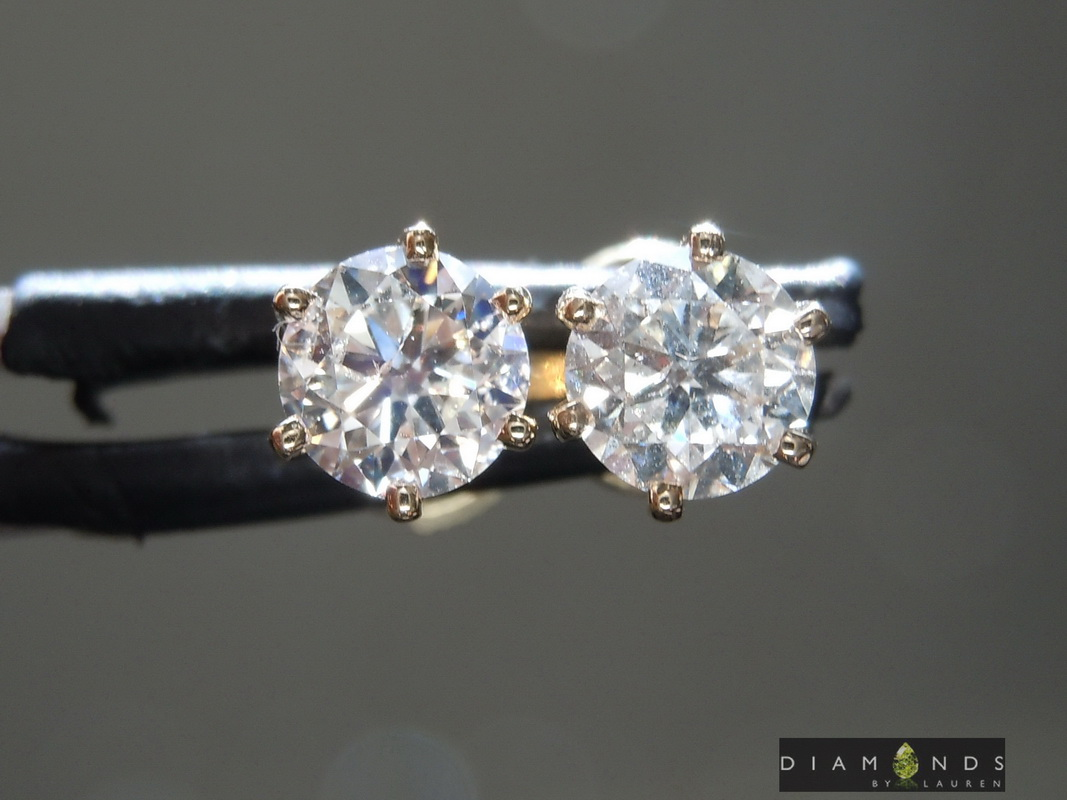 natural diamond earrings