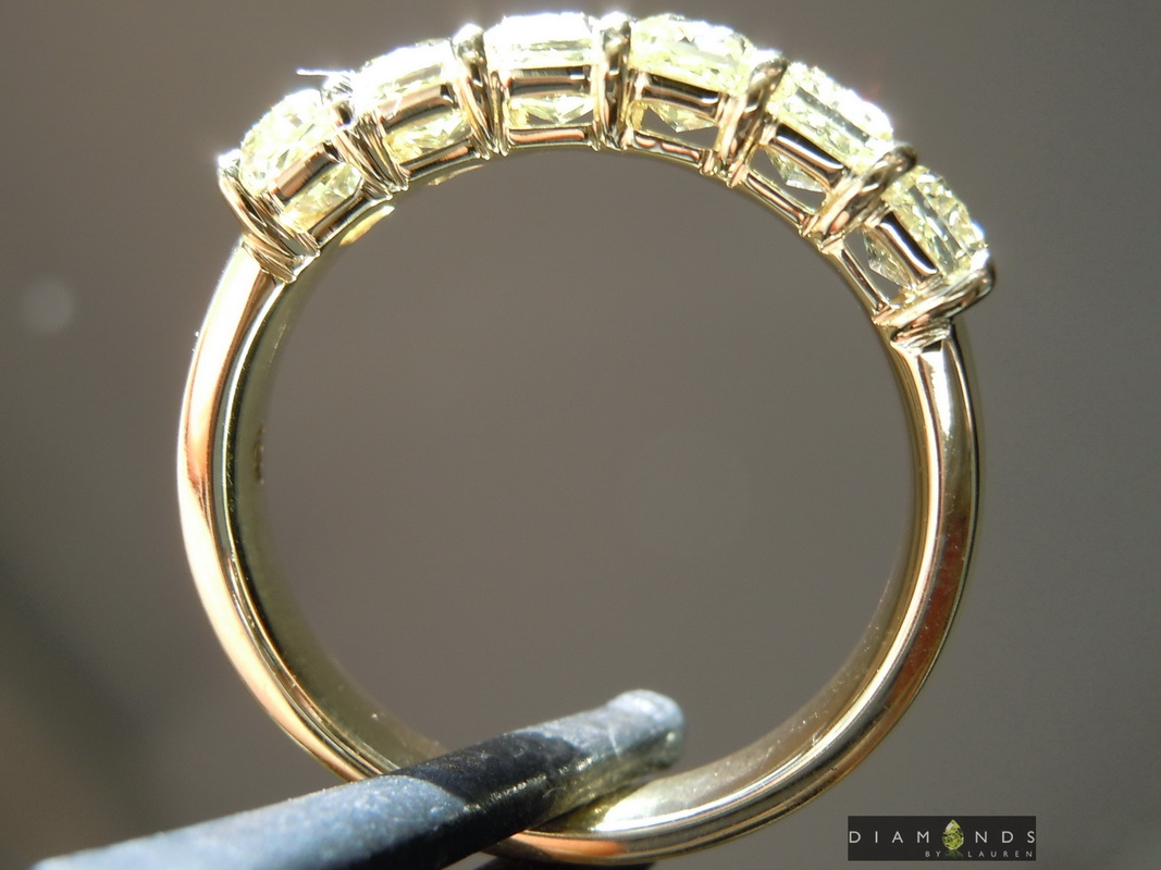 canary radiant diamond ring