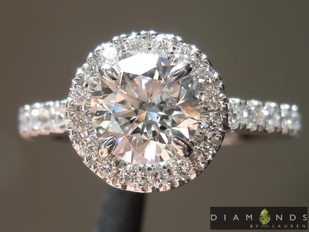 colorless lab diamond ring
