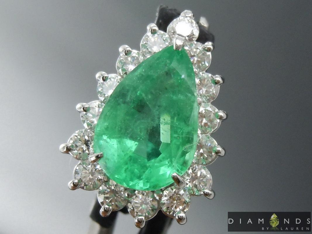 blue emerald pendant