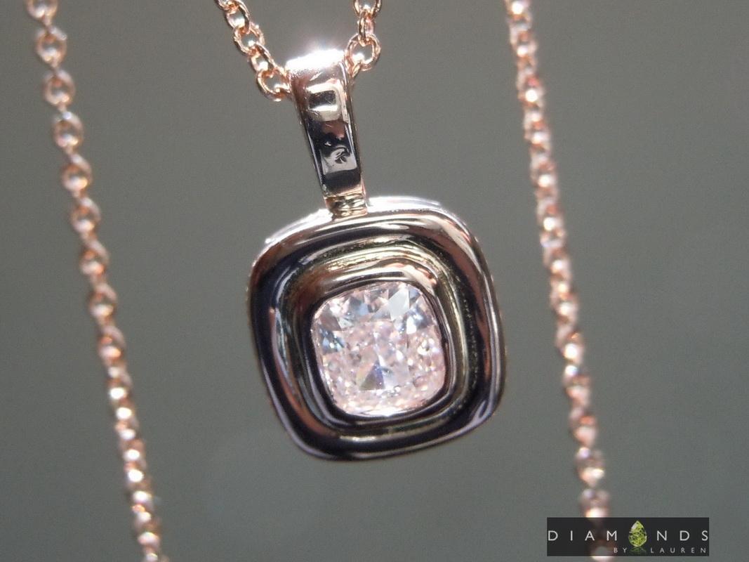 natrual pink diamond pendant