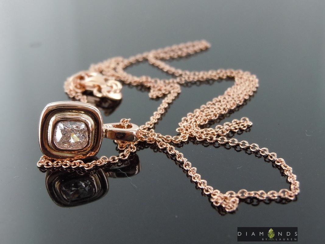 natural pink diamond pendant