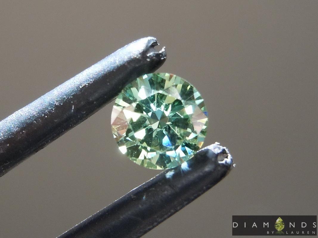 green lab diamond earrings