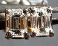 SOLD...Diamond Earrings: .35cts E-F VS Emerald Cut Diamond Stud Earrings R2105