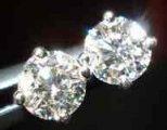 SOLD....Diamond Earrings: .54ct tw Round Brilliant Diamond Stud Earrings R1913