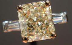 SOLD....2.09ct Y-Z I1 Radiant Cut Diamond 14Karat White and Yellow Gold Diamond Ring R2445
