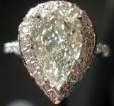 SOLD....Halo Diamond Ring: 2.00 Massive Pear Shape Diamond GIA Graded R2452