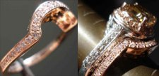 Diamond Wedding Band: Custom Fitted Pink Gold/Pink Diamond
