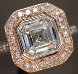 SOLD.....Diamond Ring: 1.29ct F SI2 Asscher Cut GIA Fancy Pink Diamond Halo R2666