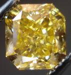SOLD....Loose Diamond: 1.16ct Fancy Orangy Yellow Radiant Cut Diamond R2810