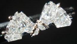 SOLD....Diamond Earrings: 1.04ct tw Horse Head Noseband Setting R2878
