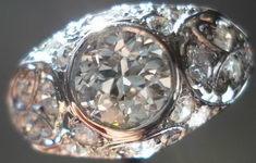 SOLD....Vintage Jewelry: .87ct OEC Diamond Platinum Setting Art Deco Era R2875
