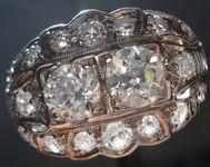 SOLD...Vintage Jewelry: Old European Cut Saddle Ring Platinum Charming R2880
