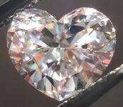SOLD......Loose Diamond; Light Pinkish Brown VS2 1.01ct Heart Diamond GIA report R2867