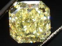 SOLD....Loose Diamond: 5.38 Fancy Intense Yellow Radiant Diamond Amazing Color Perfect Square R2935