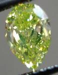 SOLD...Loose Diamond: 1.16ct Fancy Intense Green-Yellow VVs2 Pear Shape Diamond GIA Report R2973