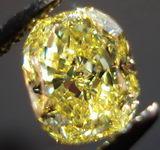 SOLD......Loose Diamond: 1.09 Internally Flawless Intense Yellow Cushion Diamond GIA report R3005