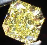 SOLD....Loose Diamond:1.01ct Fancy Intense Yellow Square Radiant Diamond R3006