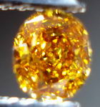 SOLD.....Loose Diamond: .23ct Oval Fancy Vivid Yellow Orange oval Wild  GIA R3011
