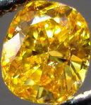 SOLD....Loose Diamond: .58 Fancy Deep Orange Yellow Cushon Diamond GIA DEE-LISH R3014