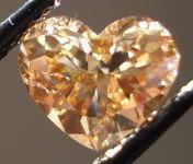SOLD.....Loose Diamond: 1.15ct Coffee Colored Heart Shape Diamond Cool Brown color R3025
