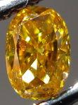 SOLD...Loose Diamond: .31ct Fancy Vivid Yellow Orange Oval Diamond Bright GIA R3018
