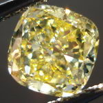 SOLD......1.32ct Internally Flawless Fancy Intense Yellow Cushion Diamond R3077