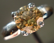 SOLD....Solitaire Diamond Ring: 1.63ct Round Coffee colored Natural Champagne Diamond R3081