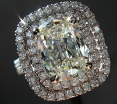 SOLD....Halo Diamond Ring: 2.08ct Daussi Cushion Platinum Double Halo HUGE R3097
