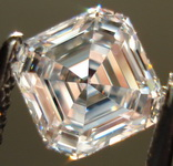 SOLD....Loose Diamond: .84ct D/IF Asscher Cut DIamond GIA Diamond Dossier Laser inscription R3121