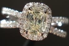 SOLD....Halo Diamond Ring: .39ct Daussi Split Shank Microset 18kt white gold R3147