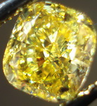 SOLD....Loose Diamond: 1.02ct Fancy Vivid Yellow GIA Cushion. Save due to blue R3178