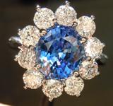 SOLD...Sapphire and Diamond Ring: 2.54 Royal Gorgeous Blue Sapphire Platinum Diamond Ring R3197