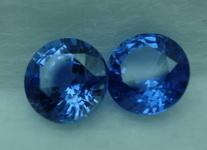 SOLD.....Loose Sapphires: 1.99tw Ceylon Blue Round Matching 6mm pair  R3199