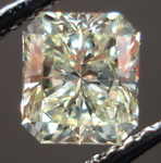 SOLD.....Loose Diamond: .73ct S-T Faint Yellow VVS1 Radiant GIA Soft Butter Yellow R3273