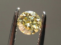 SOLD.....Loose Diamond: .25ct Round Fancy Yellow GIA Nicely Cut Great Sparkle R3279
