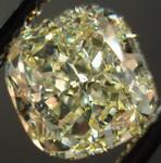SOLD.....Loose Diamond: .1.62ct Fancy Light Yellow VVS2 Cushion Diamond Lemon Sparkle R3284