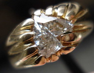 SOLD....Diamond Ring: Horse-head 14kt gold solitaire  Pawnshop Special R3322
