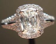 0.75ct I VS1 Cushion Cut Diamond Ring R3349