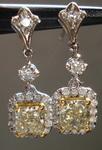 SOLD....Diamond Earrings: 1.67t twYellow Radiant Diamond Dangle Halo R3351