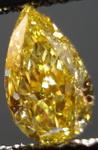 SOLD....Loose Diamond: .62 Fancy Intense Orangy Yellow Pear Diamond Rare Color R3335