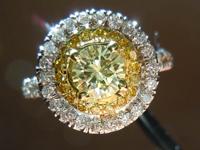 SOLD....Diamond Halo Ring: .51ct Y-Z VS2 Round Diamond GIA Beautiful Double Halo R3282