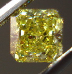 SOLD....Loose Diamond: .36ct Fancy Intense Yellow Square radiant VS2 GIA R3394