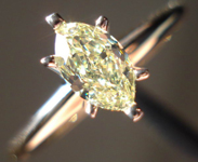 SOLD......Diamond Ring.38ct Natural Yellow Marquise 14Karat 2Tone Gold Diamond Ring R3404