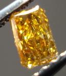 SOLD......Loose Diamond: .23ct Orangy Yellow Radiant Diamond SPECIAL R3403