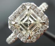 SOLD.....Halo Diamond Ring: 1.37ct K/VVS2 Asscher Cut Platinum Micro-set R3426