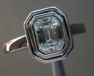 SOLD... Diamond Ring: .74ct F/VS1 Emerald Cut GIA Step Cut Glitter at it's Best R3425
