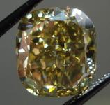 SOLD....Loose Diamond: 5.02ct Fancy Deep Brownish Greenish Yellow Cushion Great color GIA R3451