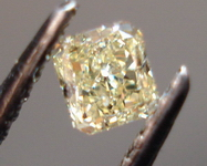 SOLD....Loose Diamond: .24ct Natural Light Yellow Radiant R3441